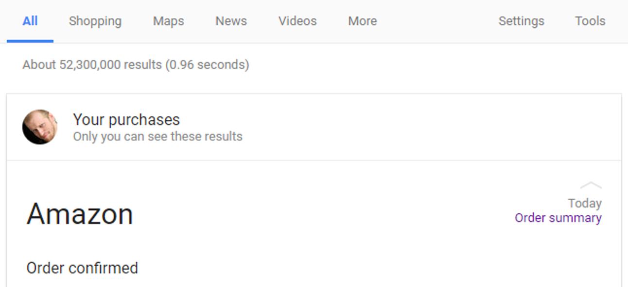 So verwenden Sie Google, um nur Ihre E-Mails, Ereignisse und andere Inhalte zu durchsuchen