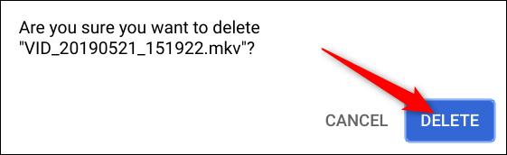 Bestätigen Sie, dass Sie die Datei löschen möchten, und klicken Sie dann auf Löschen