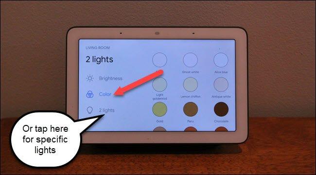 Google Home Hub-Wohnzimmerleuchten mit Farbaufruf und 2 Lichtoptionen