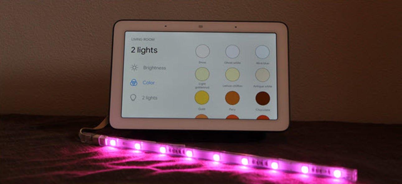 So ändern Sie die Farben Ihrer Smart Bulb über das Google Home Hub-Display