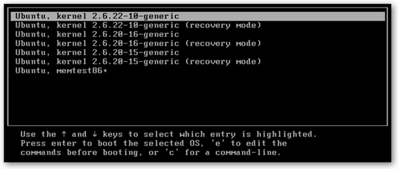 Bereinigen Sie das Ubuntu Grub-Startmenü nach Upgrades