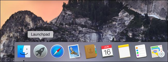 Launchpad zum Dock auf dem Mac hinzugefügt