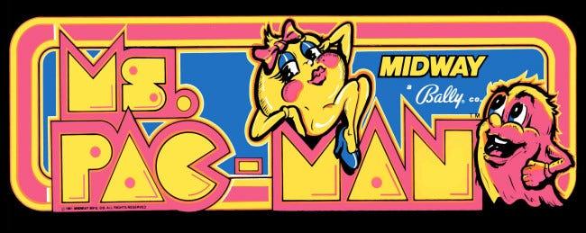 Das Arcade-Festzelt von Frau Pac-Man.