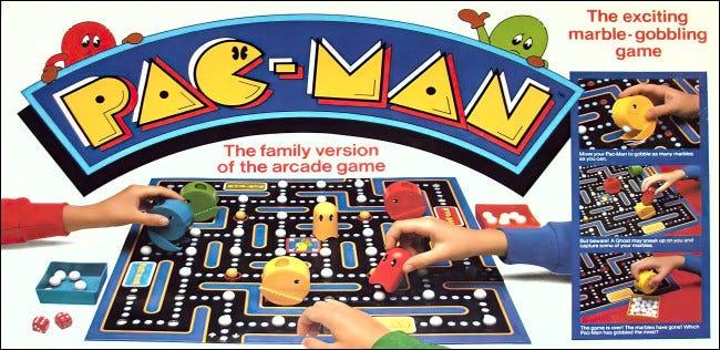 Milton Bradley Pac-Man Brettspiel Box Cover