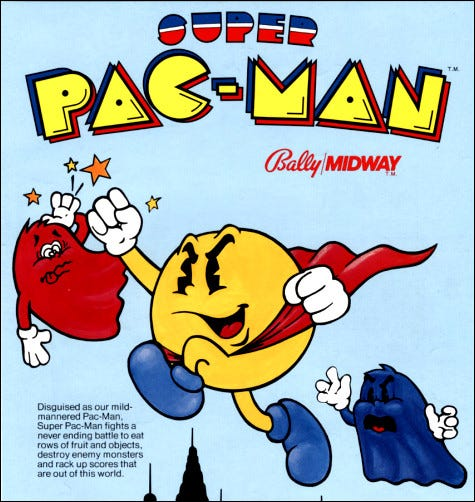 """Super Pac-Man"" Arcade-Flyer."