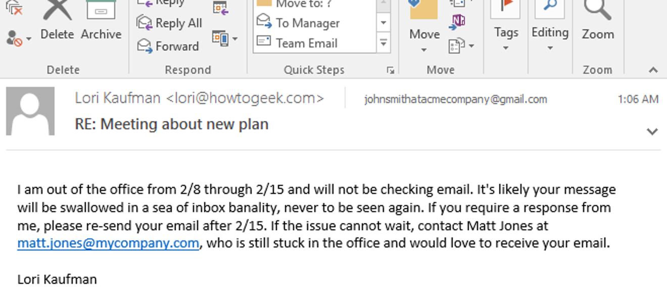 So richten Sie eine Abwesenheitsantwort in Outlook für Windows ein
