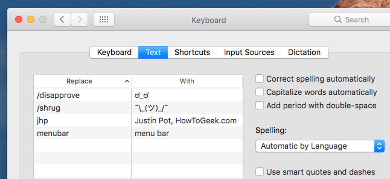 So geben Sie lange oder komplexe Sätze mit wenigen Tastenanschlägen ein, dank der Textersetzung von macOS