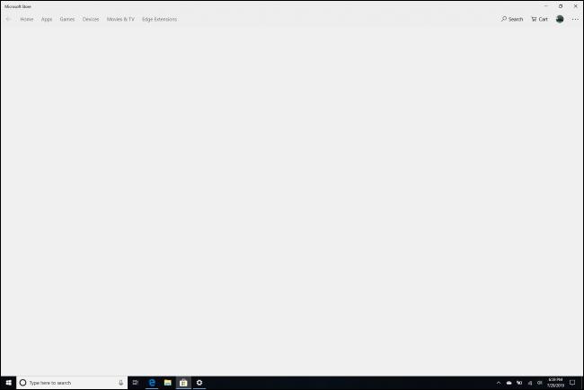 Grauer Bildschirm beim Versuch, den S-Modus in der Store-App von Windows 10 zu verlassen