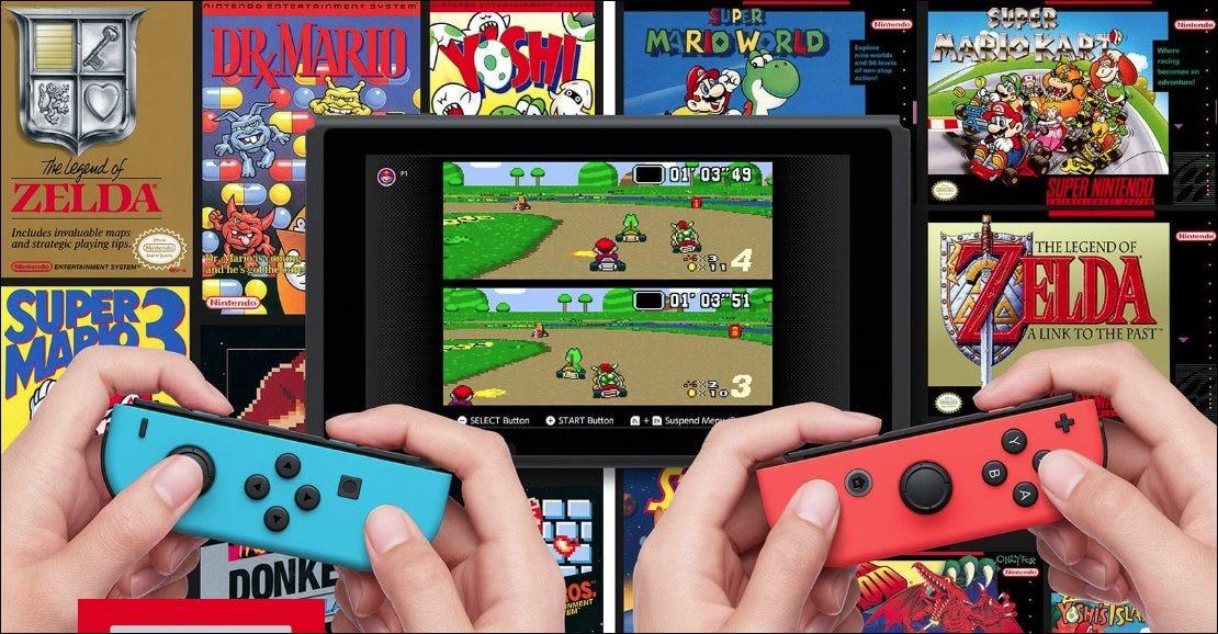 Mario Kart für SNES auf einem Nintendo Switch spielen.