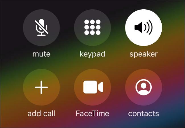 Das Anrufmenü auf dem iPhone.