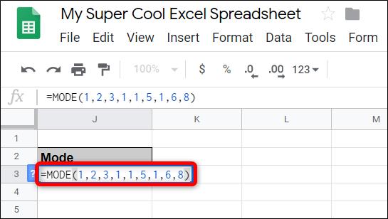 """Klicken Sie auf eine leere Zelle und geben Sie = MODE (<Wert1>, [<Value2>, …]) und ersetzen Sie <Wert1> und <Wert2> durch die Werte oder den Datenbereich, für den Sie den Modus finden möchten."""" width=""""545″ height=""""308″ onload=""""pagespeed.lazyLoadImages.loadIfVisibleAndMaybeBeacon(this);"""" onerror=""""this.onerror=null;pagespeed.lazyLoadImages.loadIfVisibleAndMaybeBeacon(this);""""/></p> <p>Nachdem Sie die Eingabetaste gedrückt haben, enthält die Zelle nun die häufigste Nummer des Datensatzes, den Sie in die Funktion eingegeben haben.</p> <p><img class="""