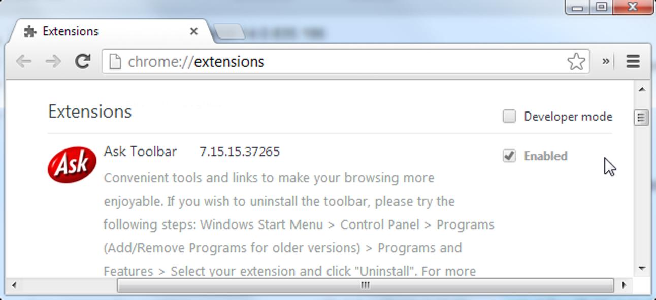 So deinstallieren Sie eine global installierte Chrome-Erweiterung manuell