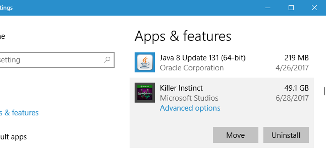 So installieren (oder verschieben) Sie Apps auf einem anderen Laufwerk unter Windows 10