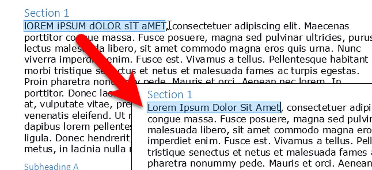 So ändern Sie einfach die Groß- und Kleinschreibung von Text in LibreOffice Writer