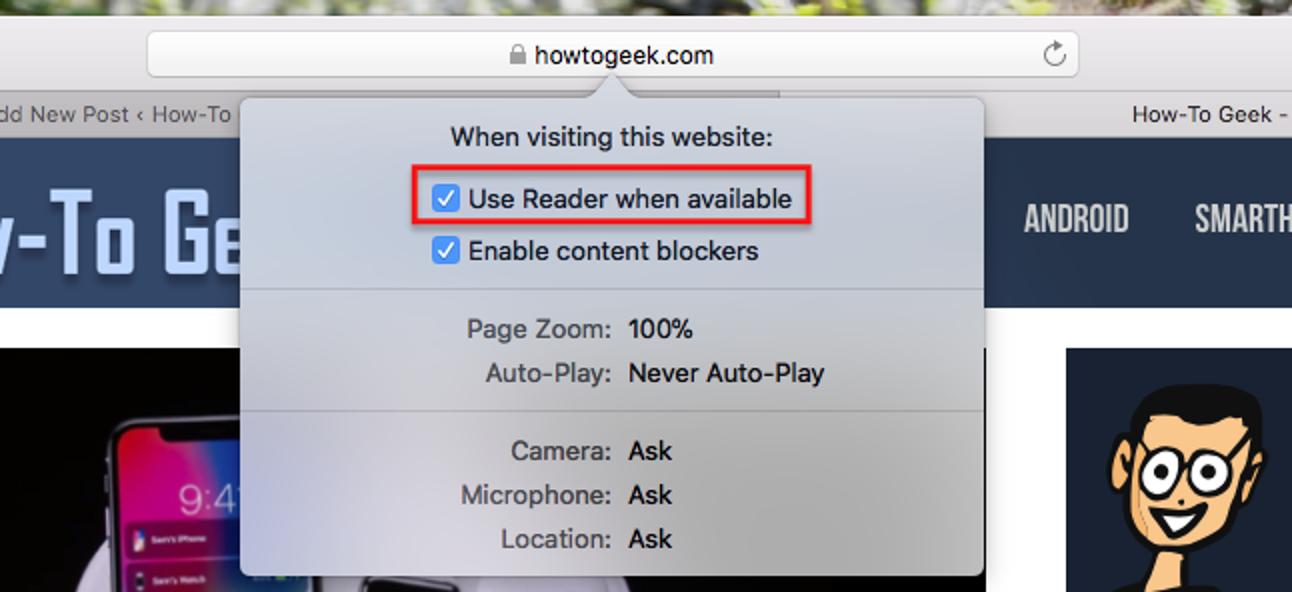 So öffnen Sie Artikel automatisch im Lesemodus von Safari