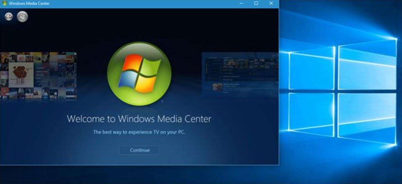 So installieren Sie Windows Media Center unter Windows 10