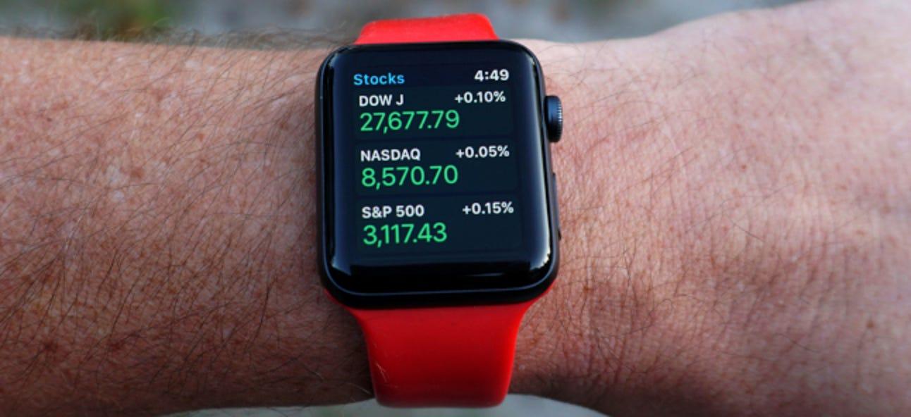 So passen Sie die Aktien-App auf Ihrer Apple Watch an
