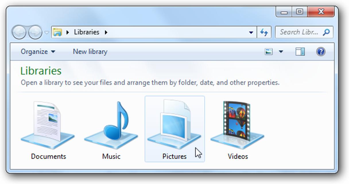 Ändern Sie Ihre Windows 7-Bibliothekssymbole auf einfache Weise