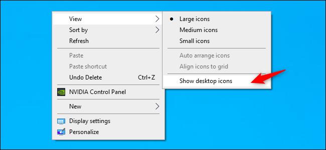 Desktop-Symbole unter Windows 10 einblenden