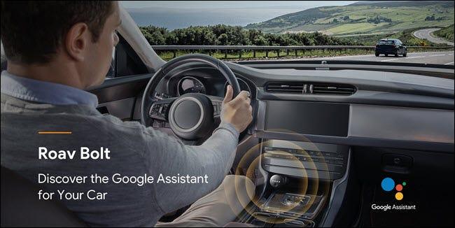 Roav Volt mit Google-Assistent in einem Auto