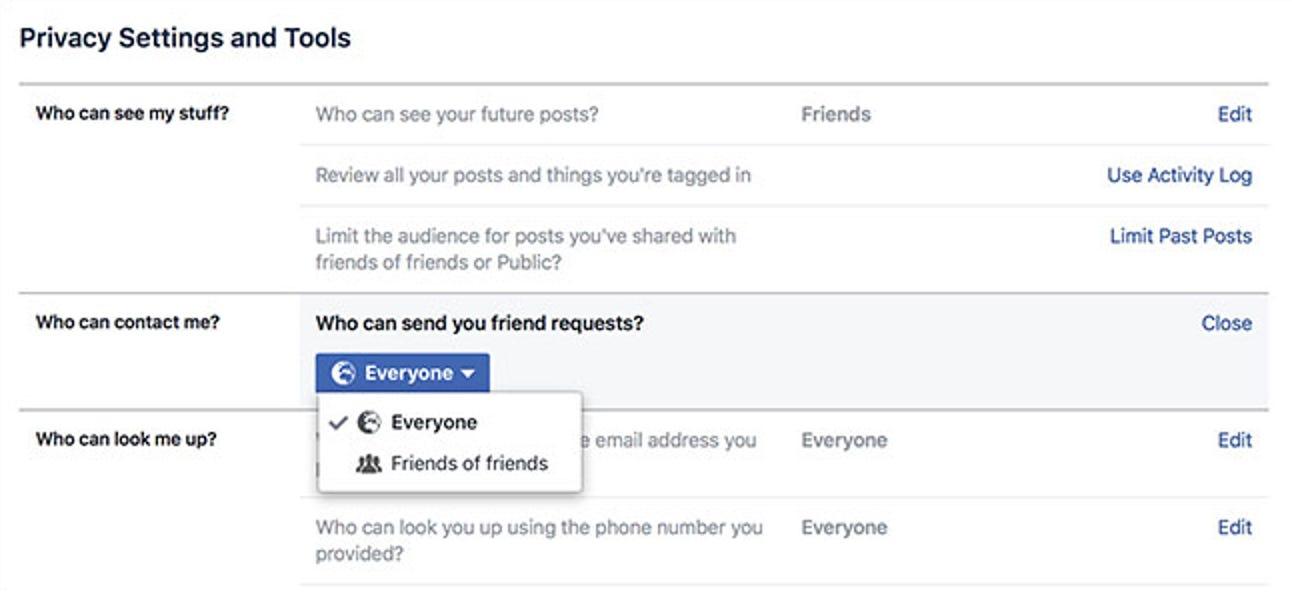 So machen Sie es für Menschen schwieriger, Ihr Facebook-Konto zu finden