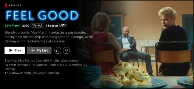 """Das """"Gut fühlen"""" Seite auf Netflix ansehen."""