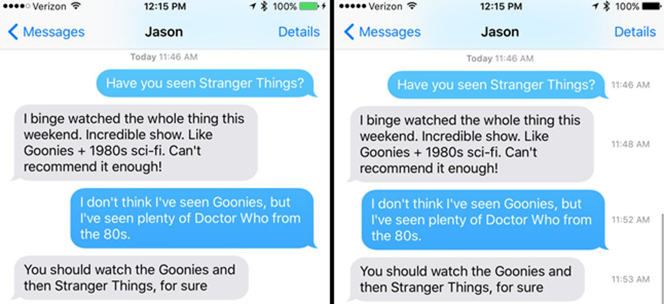 So sehen Sie, wann eine Textnachricht auf Ihrem iPhone gesendet wurde