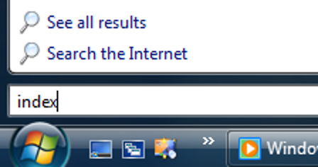 Hinzufügen von Indizierungsorten in Windows Vista