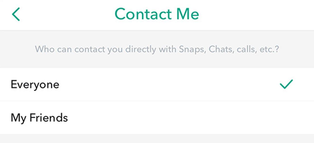 So lassen Sie nur Freunde Sie in Snapchat kontaktieren