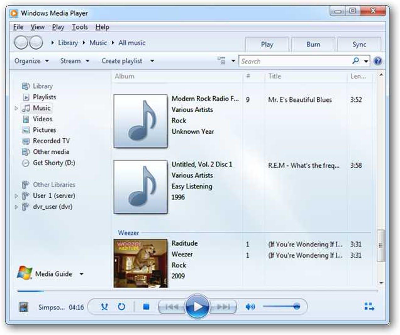 Aktualisieren Sie Metadaten und Cover in Windows Media Player 12