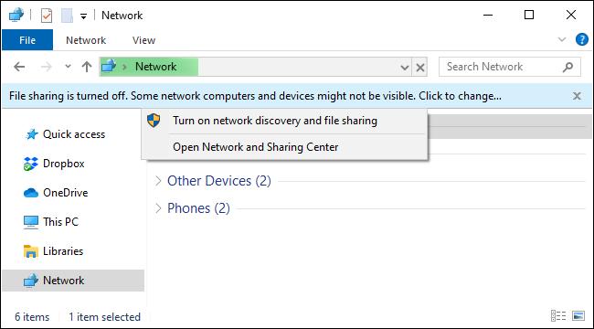 Aktivieren der Netzwerkdateifreigabe unter Windows 10 über den Datei-Explorer