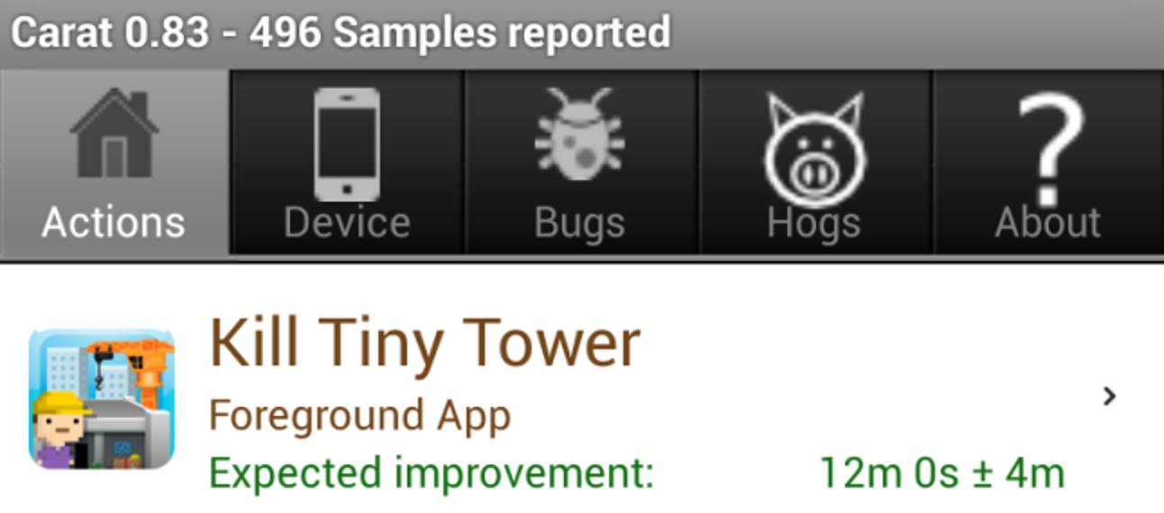 Erhalten Sie Vorschläge zur Verbesserung der Akkulaufzeit Ihres Android-Telefons mit Karat