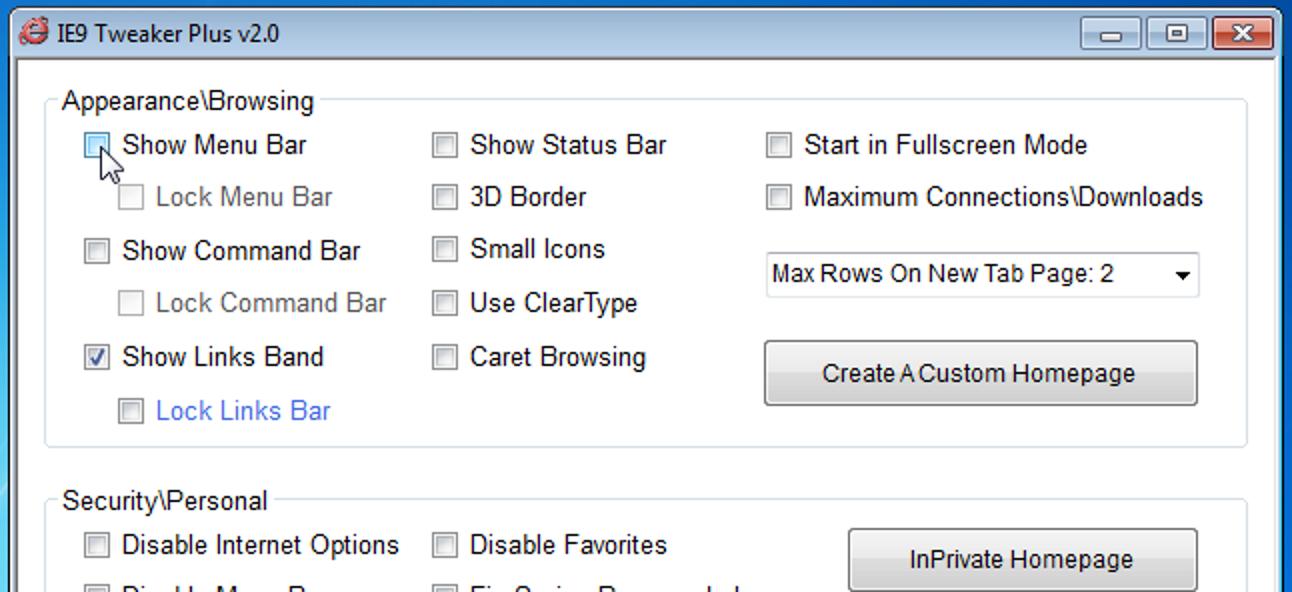 Passen Sie Internet Explorer 9 einfach mit IE9 Tweaker Plus an