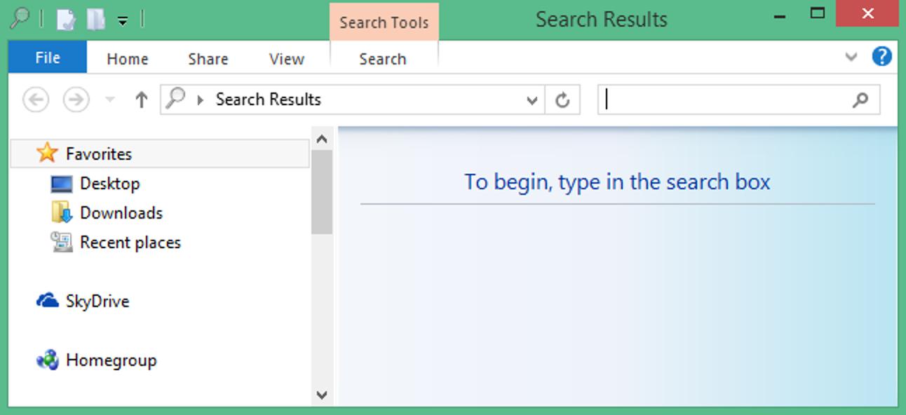 So erstellen Sie eine Suchverknüpfung auf dem Desktop in Windows 8.1
