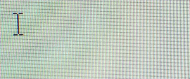Pixel mit einem Cursor auf einem Computerbildschirm