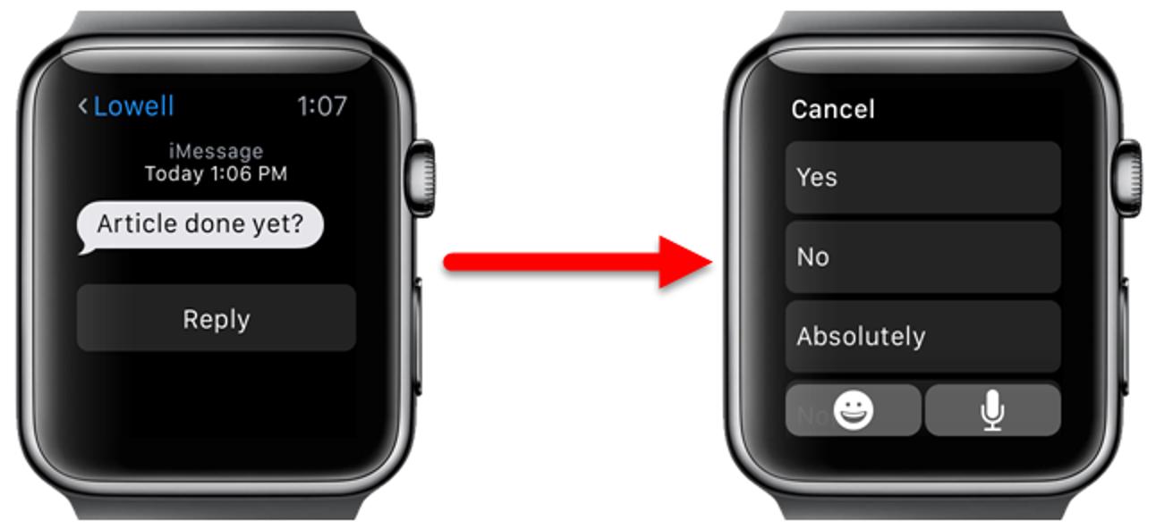 So konfigurieren Sie benutzerdefinierte Antworten für Text- und E-Mail-Nachrichten auf Ihrer Apple Watch