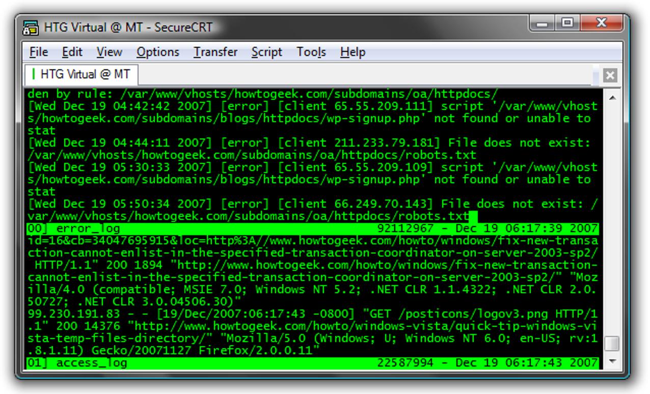 Überwachen Sie mehrere Protokolle in einer einzigen Shell mit MultiTail für Linux