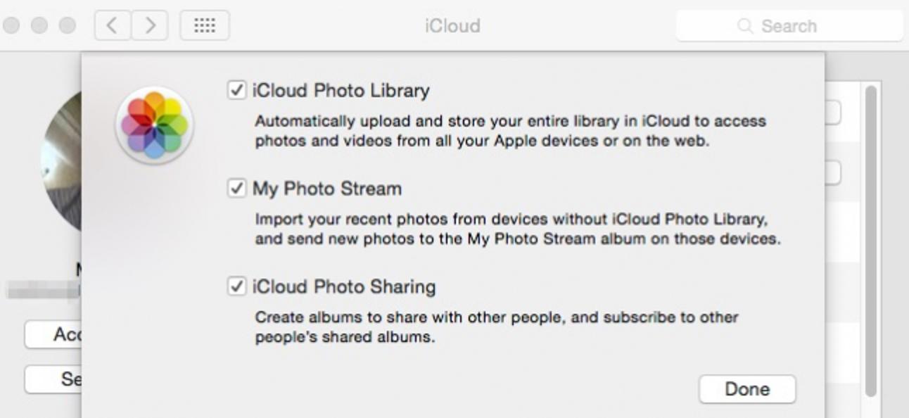 Deaktivieren der iCloud-Foto- und Videofreigabe von OS X.