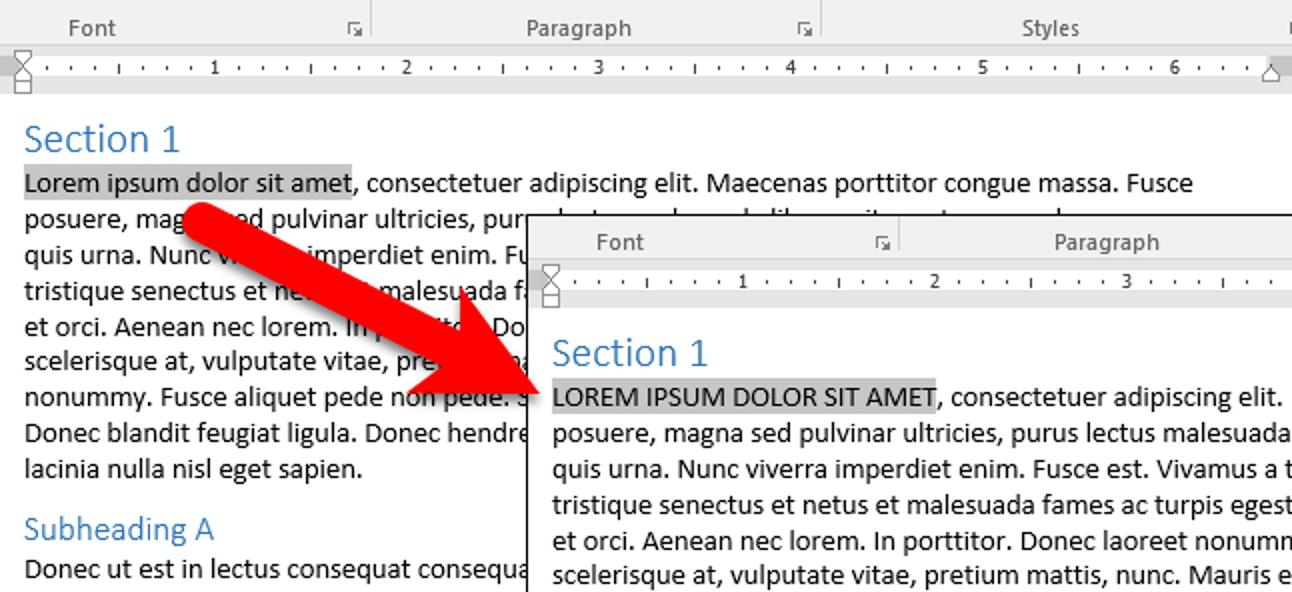 So ändern Sie einfach die Groß- und Kleinschreibung von Text in Microsoft Word