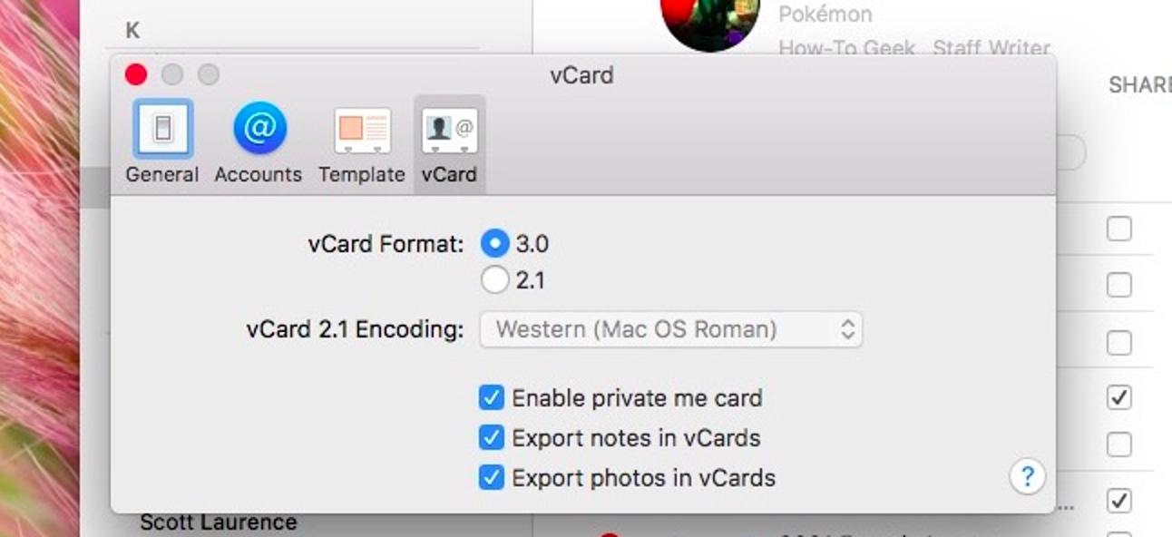 So teilen Sie nur bestimmte Kontaktdaten mit einer privaten Me-Karte unter macOS