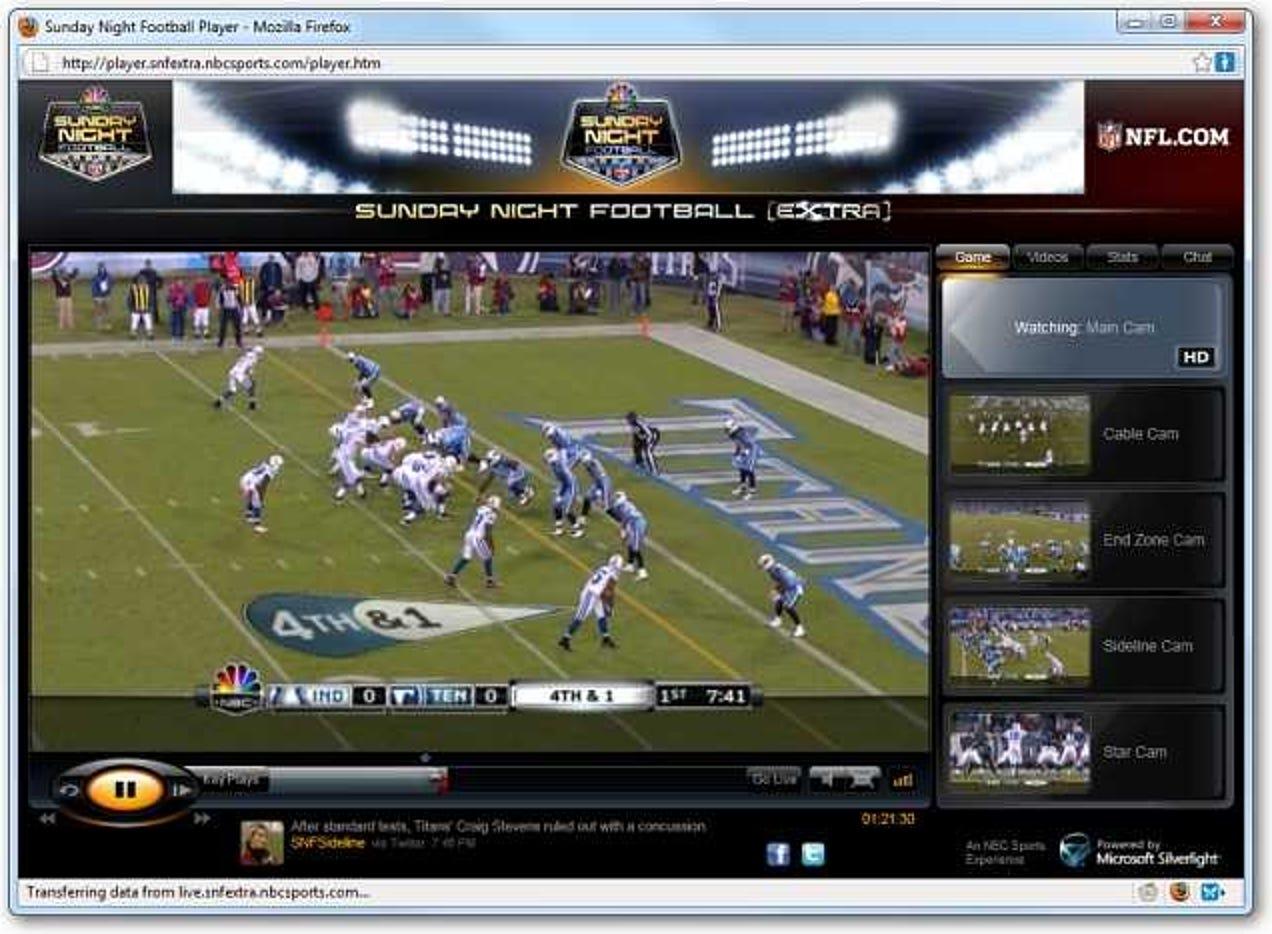 Sehen Sie NFL Sunday Night Football auf Ihrem PC