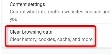 Klicken Sie auf Browserdaten löschen