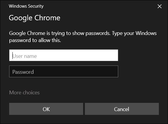 Geben Sie den Benutzernamen und das Passwort Ihres Computers ein, um fortzufahren