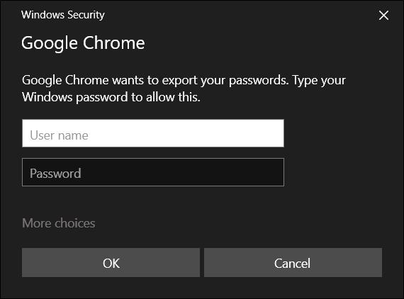 Geben Sie den Benutzernamen und das Kennwort Ihres Computers ein, um fortzufahren