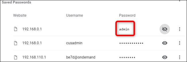 Voila!  Das Passwort wird angezeigt