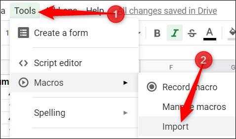 """Erstellen Sie ein neues Makro in Ihrer anderen Tabelle.  Klicken Sie auf Extras> Makros> Makro aufzeichnen"""" width=""""479″ height=""""244″ onload=""""pagespeed.lazyLoadImages.loadIfVisibleAndMaybeBeacon(this);"""" onerror=""""this.onerror=null;pagespeed.lazyLoadImages.loadIfVisibleAndMaybeBeacon(this);""""/></p> <p>Klicken Sie sofort auf """"Speichern"""", ohne Aktionen aufzuzeichnen, um eine Platzhalterfunktion in der Makrodatei des Blattes für uns zu erstellen.  Sie werden dies etwas später löschen.</p> <p><img class="""