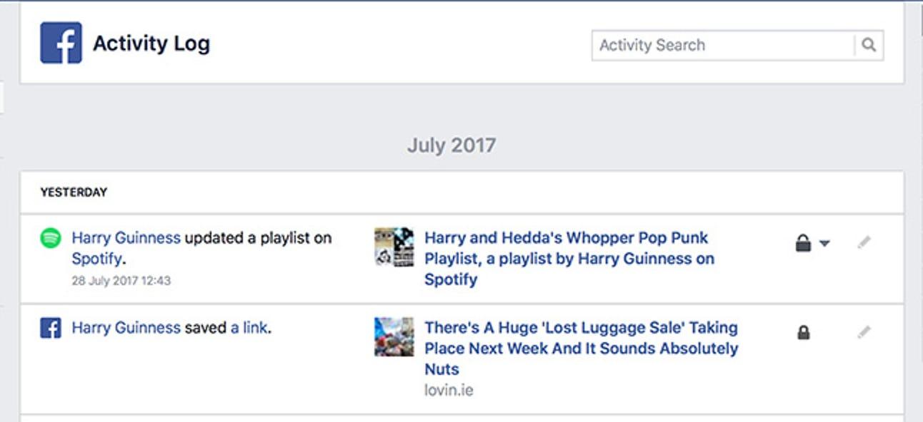 So sehen Sie ein Protokoll von allem, was Sie jemals auf Facebook getan haben