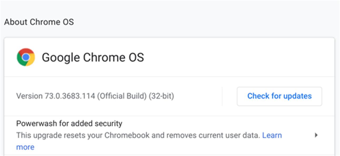 So aktualisieren Sie Ihr Chromebook