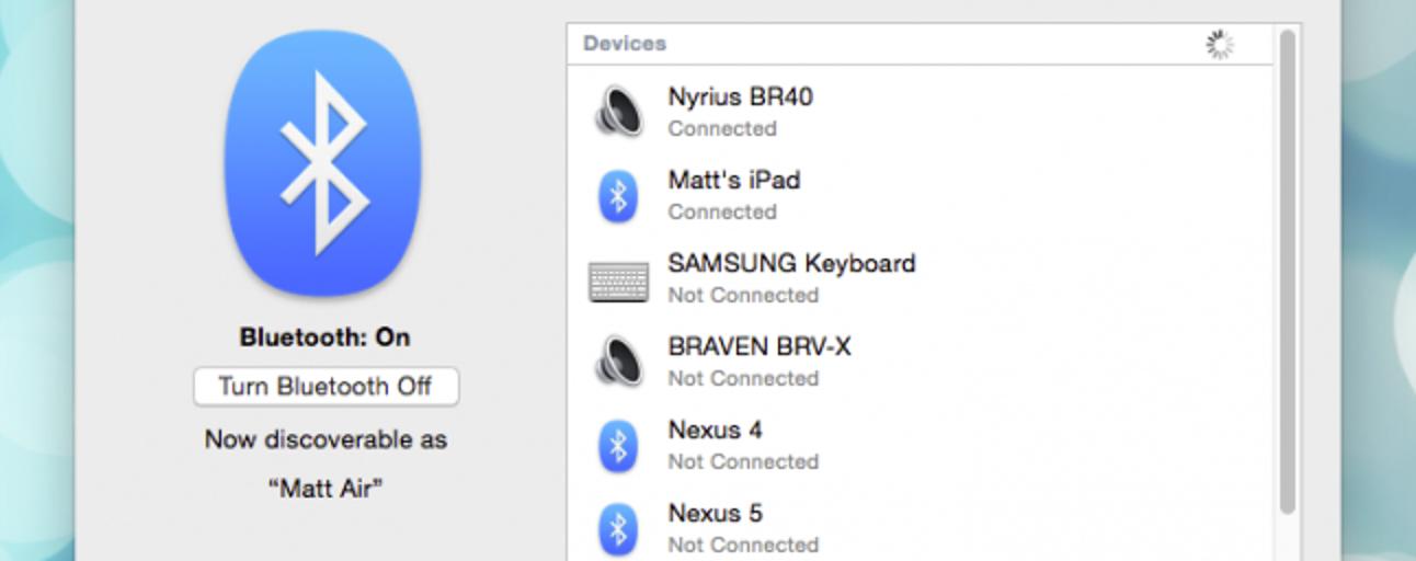 Verwendung der Bluetooth-Dateiübertragung zwischen OS X- und Android 5.0-Geräten