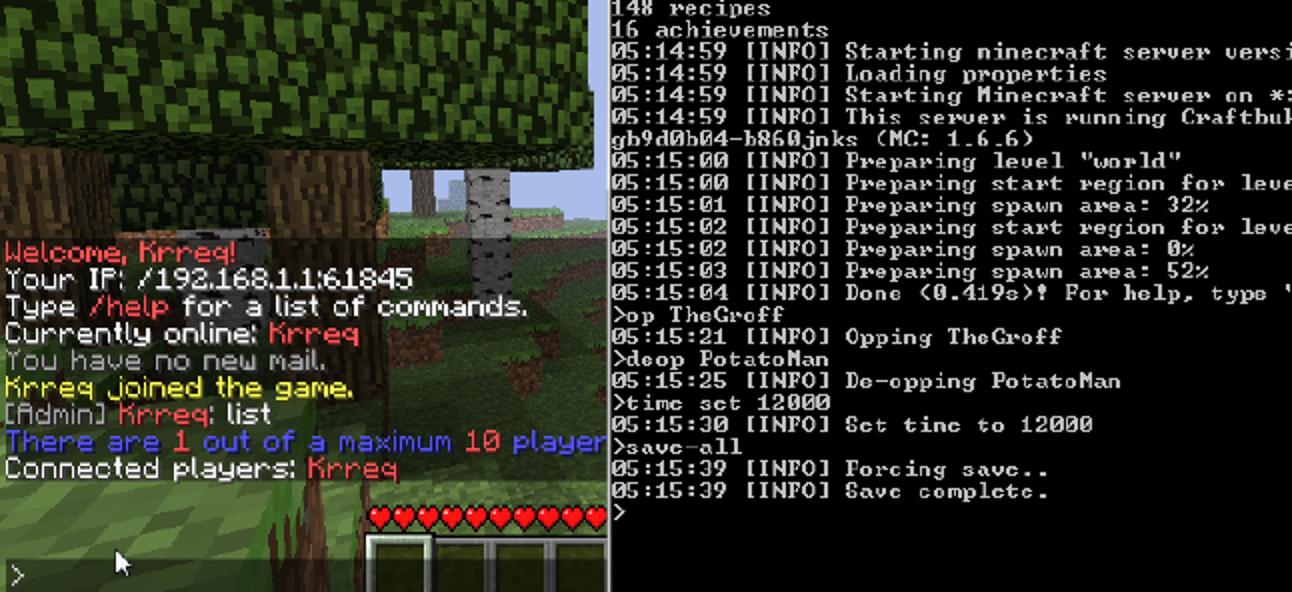 So konfigurieren und führen Sie Bukkit, einen alternativen Minecraft-Server, aus